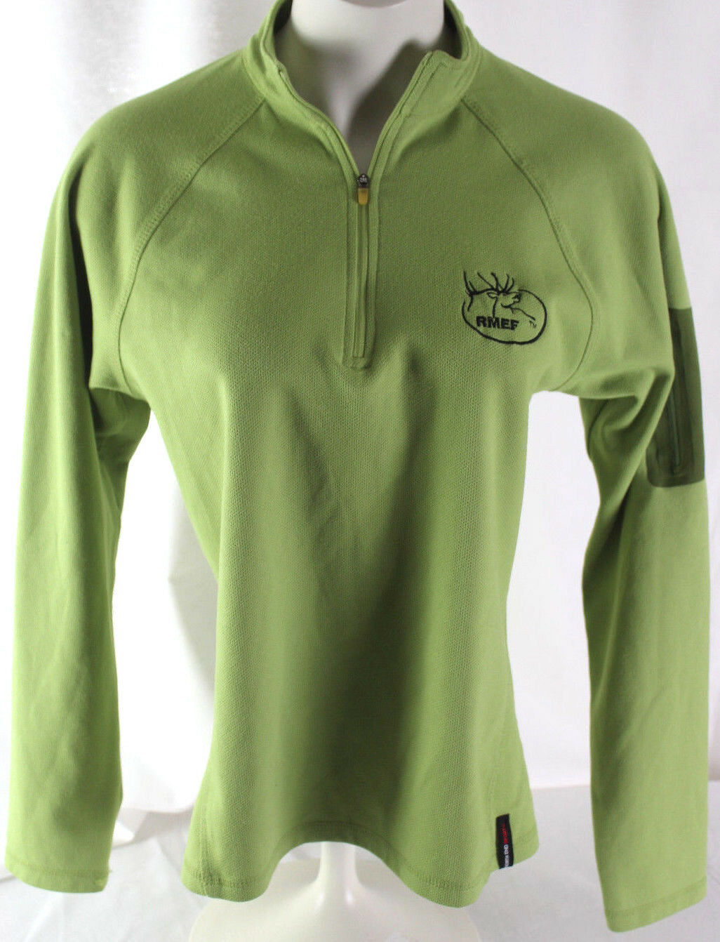 North End Sport Ladies Green Performance Stretch Longsleeve Athletic Shirt  M