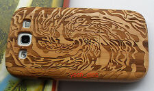 Natural Bamboo Wood Wooden Case Cover For Samsung Galaxy S3 SIII i9300 Sea Wave!