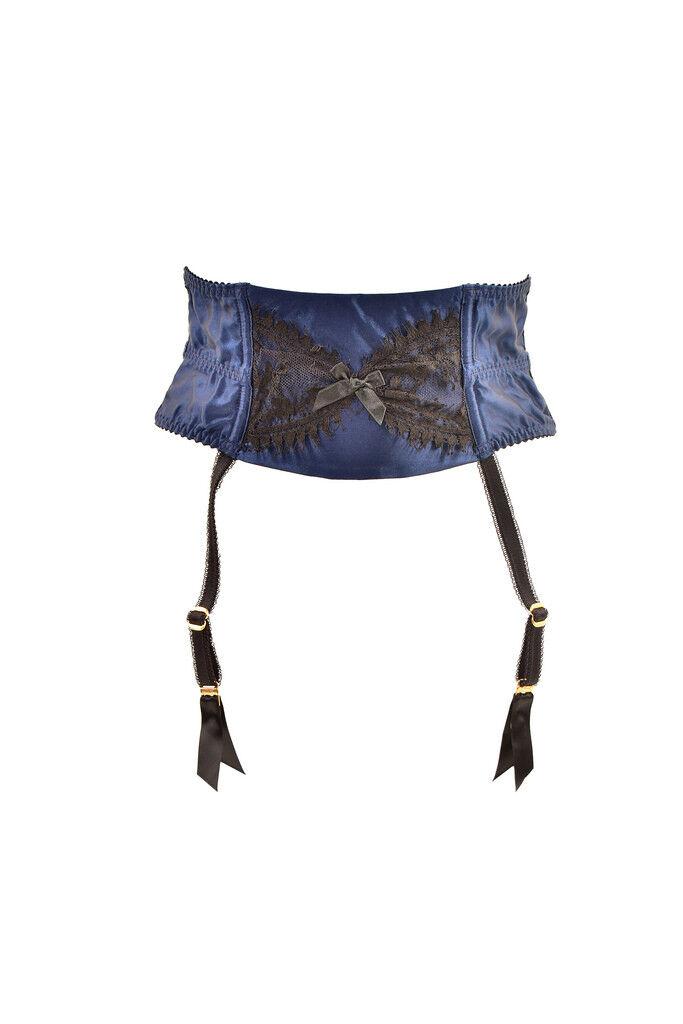 Agent Provocateur Womens Silk Suspender Lace Elegant bluee Size AP 3