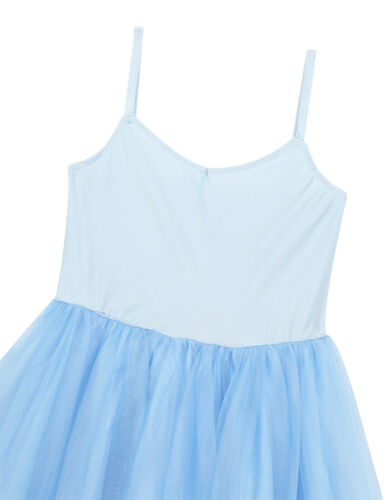 Gym Ballet Dance Dress Girls Leotard Mesh Tutu Dress Kids Romantic Style Costume