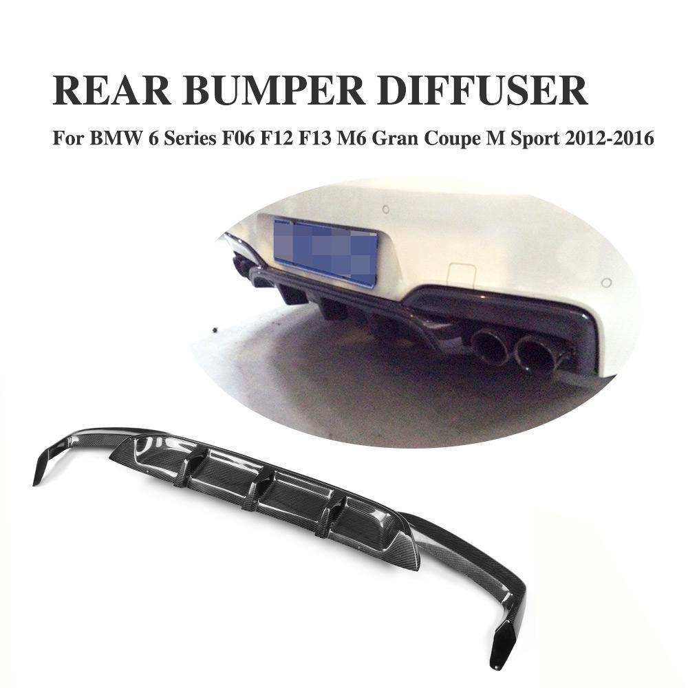 Black Performance Style Rear Bumper Diffuser For 12-17 BMW F06 F12 F13 M Sports