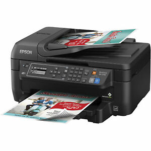 Wireless Printer Epson All In One Color Print Copy Scan Fax Machine Wf2750
