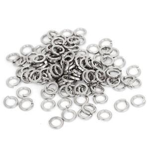 M6-304-Stainless-Steel-Split-Lock-Spring-Washers-Screw-Gasket-100pcs-I1P5