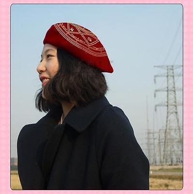 1pc Lolita Girls Clow Card Patten Beret Cap Painter Beanie Cardcaptor Sakura Hat