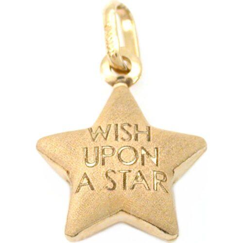 14k Satin Gold Wish Upon A Star Charm Bracelet 14mm