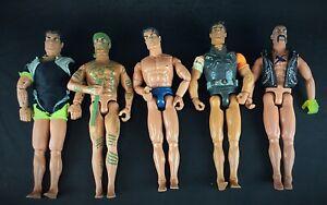 Lot: vintage & rare hasbro action man 5 figures: 1994/1996/1997/1999/2003