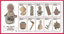 1997 South Africa Year of Cultural Experiences Sheet Of 10 Stamps MNH