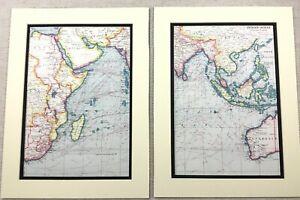 1920-Antique-Prints-Map-of-The-Indian-Ocean-Madagascar-Borneo-Australia