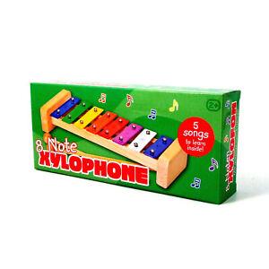 Xylophone-Glockenspiel-Musical-Instrument-for-Children-Age-2-8-Bars-Wood-Frame