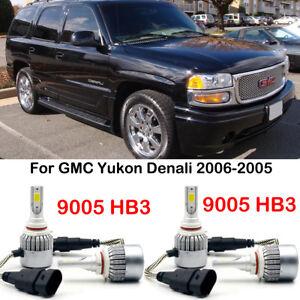 2005 Gmc Yukon Denali >> Details About 4pcs Led Headlight Bulbs 9005 Hb3 Kits For Gmc Yukon Denali 2006 2005 28880lm