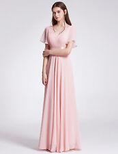 Short Sleeve Long Bridesmaid Dresses