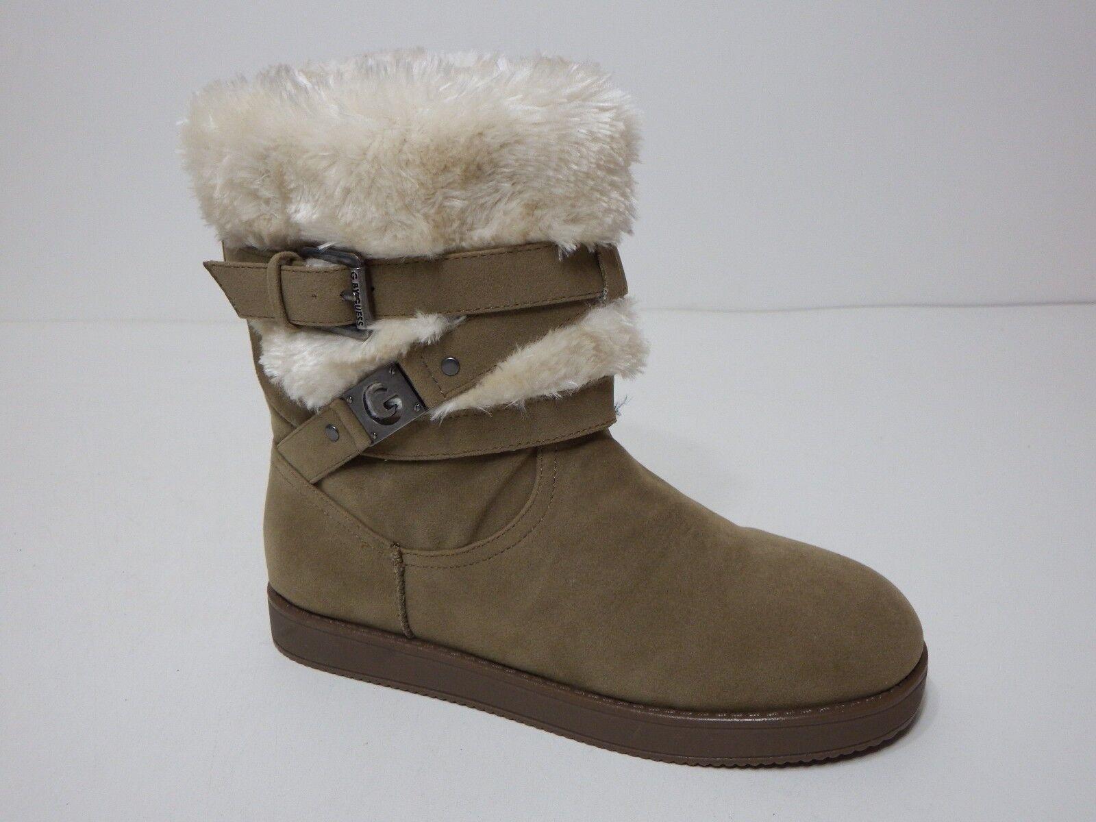 Guess Stiefel faux Damenss 5.5 M Alta Taupe Multi Fabric faux Stiefel fur buckle ankle af7a6e