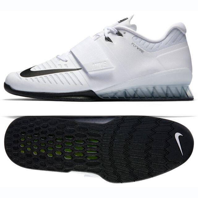 1e38e94b2181 Nike Romaleos 3 852933-100 White Black Leather CrossFit Men Weightlifting  Shoes