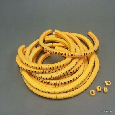 """Total 600 Pcs #gtc Cable Marker Fit Wire18-12 AWG Soft PVC Letter /"""" 0 to 9,+"""