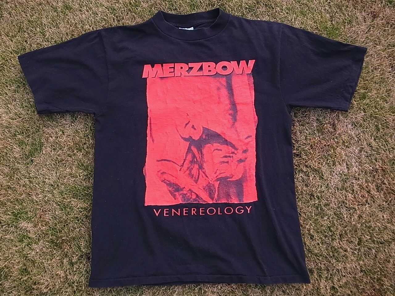 Mega Rare Mid 90's Official MERZBOW shirt L Venereology Weißhouse masonna