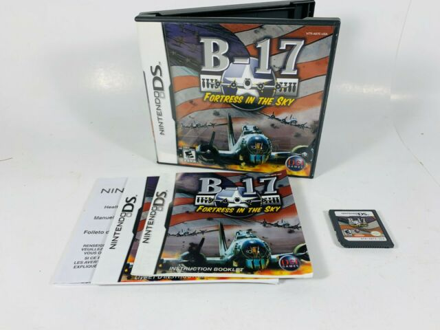 B-17 Fortress in the Sky Nintendo DS 2007 Video Game Complete Working Tested