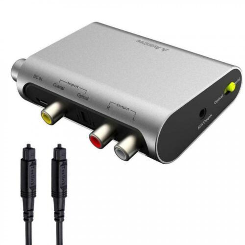 DAC DA Wandler Digital Analog Adapter Konverter SPDIF Toslink Optisch Koaxial