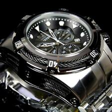Invicta Bolt Zeus Black Stainless Steel 52mm Z60 Quartz Chronograph Watch New