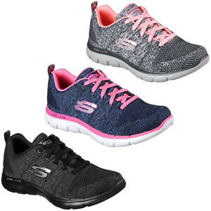 96a1cb8d3cf3b Skechers Flex Appeal 2.0 High Energy Trainers Womens Sports Memory ...