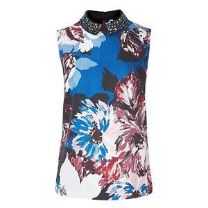 BN-LK-Bennett-Ladies-Designer-Elle-Silk-Party-Evening-Top-UK-Size-6-US-Size-2