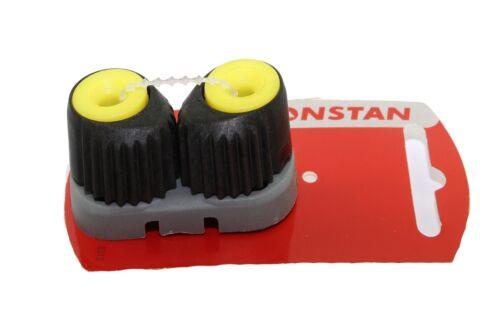 Strozzascotte piccolo Ronstan interasse 27 mm colore nero giallo
