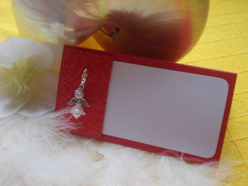 Gastgeschenk Engel Tischkarte rot Geschenkidee Taufe Hochzeit Kommunion