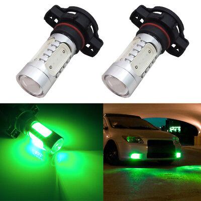 2x P13W 12277 High Power Green LED Projector Bulbs For Car DRL Driving Fog Light