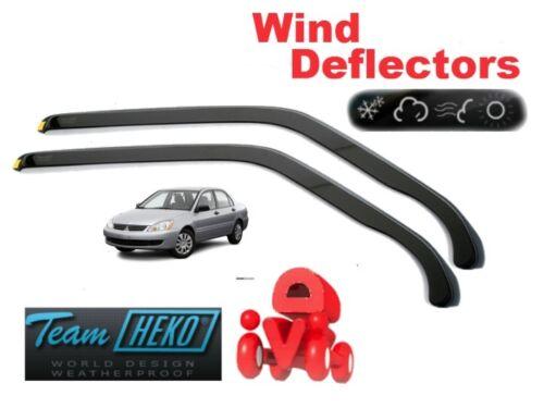 Wind deflectors MITSUBISHI LANCER  4//5D  2004-2007  2.pc  HEKO  23331