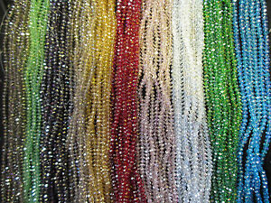4mm-6mm-8mm-10mm-AB-Beads-Beautiful-Faceted-Rondelle-Glass-Crystal-in-Strings