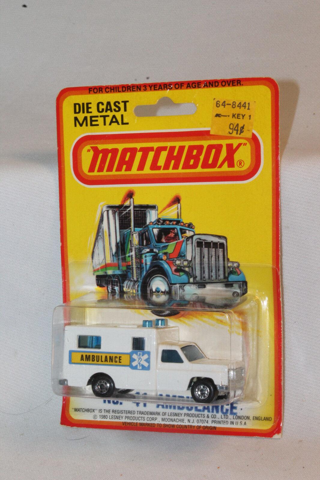 Matchbox Superfast   41 Ambulancia, blancoo Con Con Con Azul Cruz Etiquetas, Moc 69d1f2