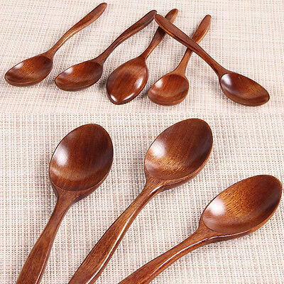 Wooden Spoon Bamboo Kitchen Cooking Utensil Tool Soup Teaspoon Catering Spoon L