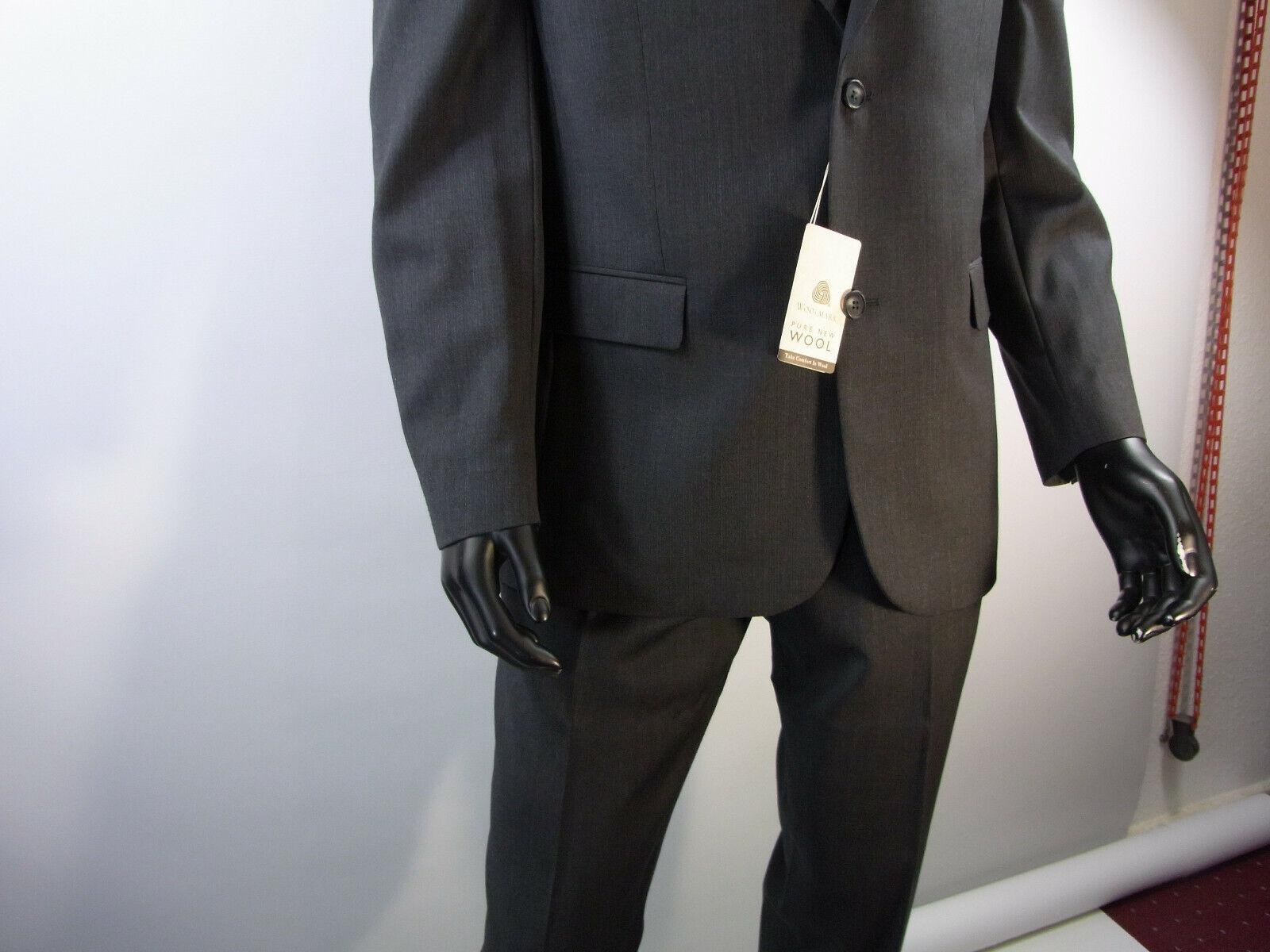 Herren Anzug Männer Anzug Bexleys  Man Farbe Anthrazit 100% Schurwolle Model 42