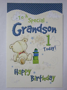 Image Is Loading WONDERFUL COLOURFUL TO A SPECIAL GRANDSON 1 TODAY