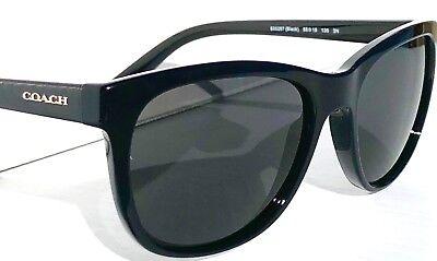b36e862b7eae Details about NEW* COACH Designer L814 in Black Polished w Grey Women's  Sunglass HC8165