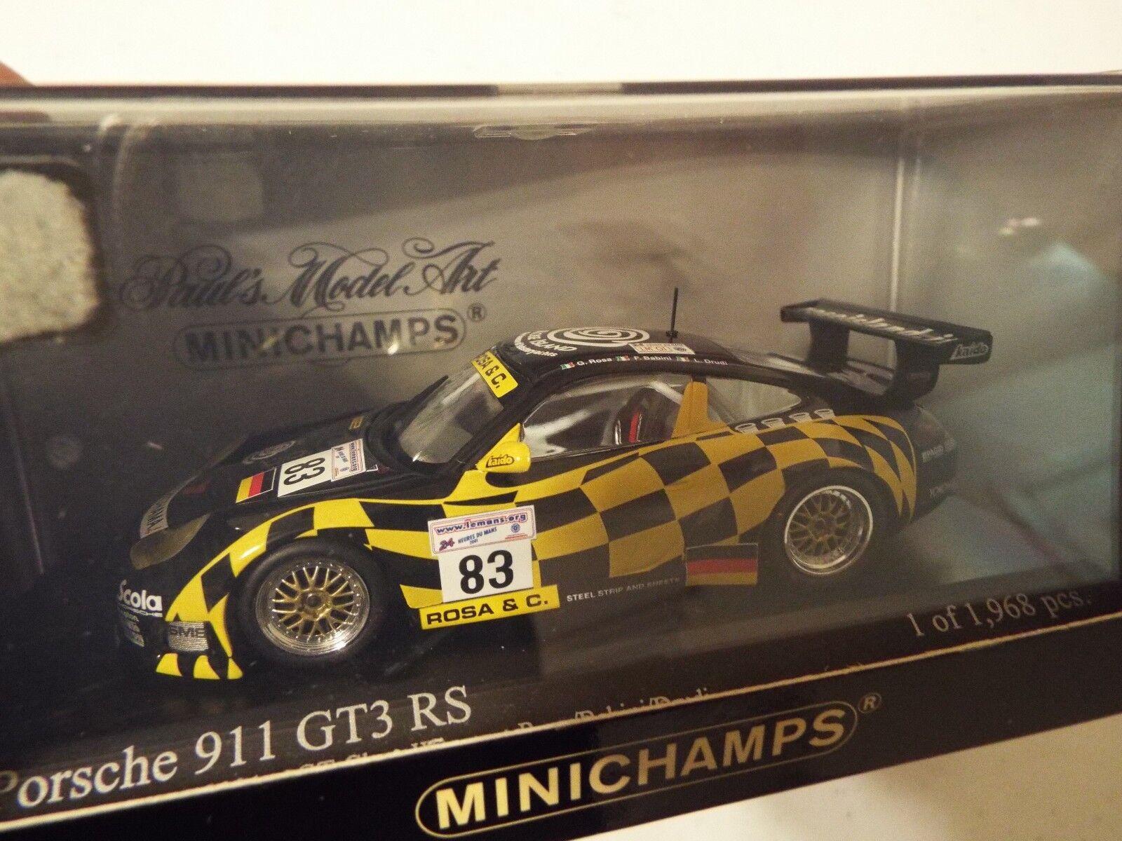 RARE  PORSCHE 911 GT3-RS  83 GT CLASS WINNER 2001 Le Mans 24Hrs 1 43 Minichamps