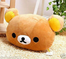 Hot Rilakkuma San-X Relax Bear Head Plush 2in1 Cushion Pillow ~Brown~ kids gift
