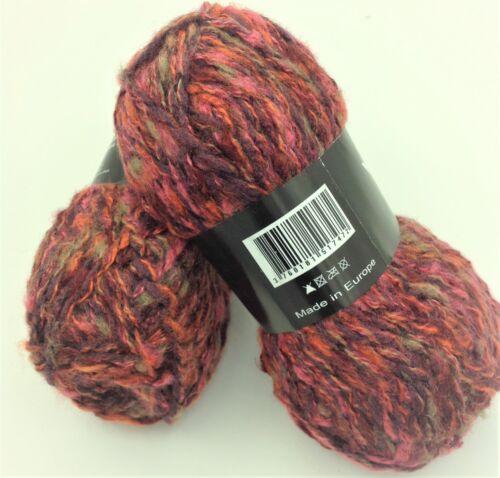 rouge  changeante 10 pelotes de laine fantaisie