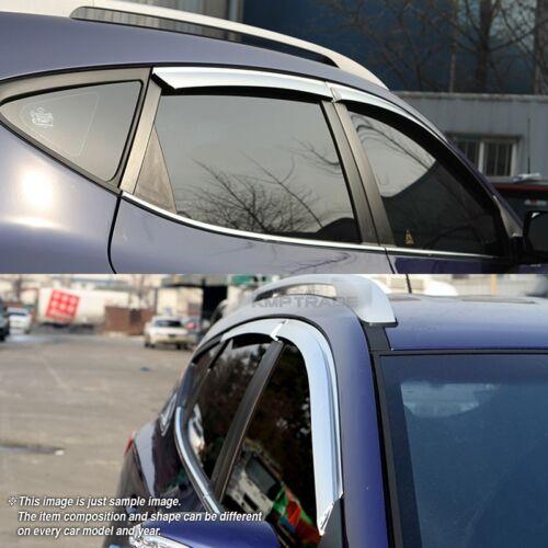 Slim Stainless Steel Window Visor Molding Rain Guard for HYUNDAI 12-18 Azera HG