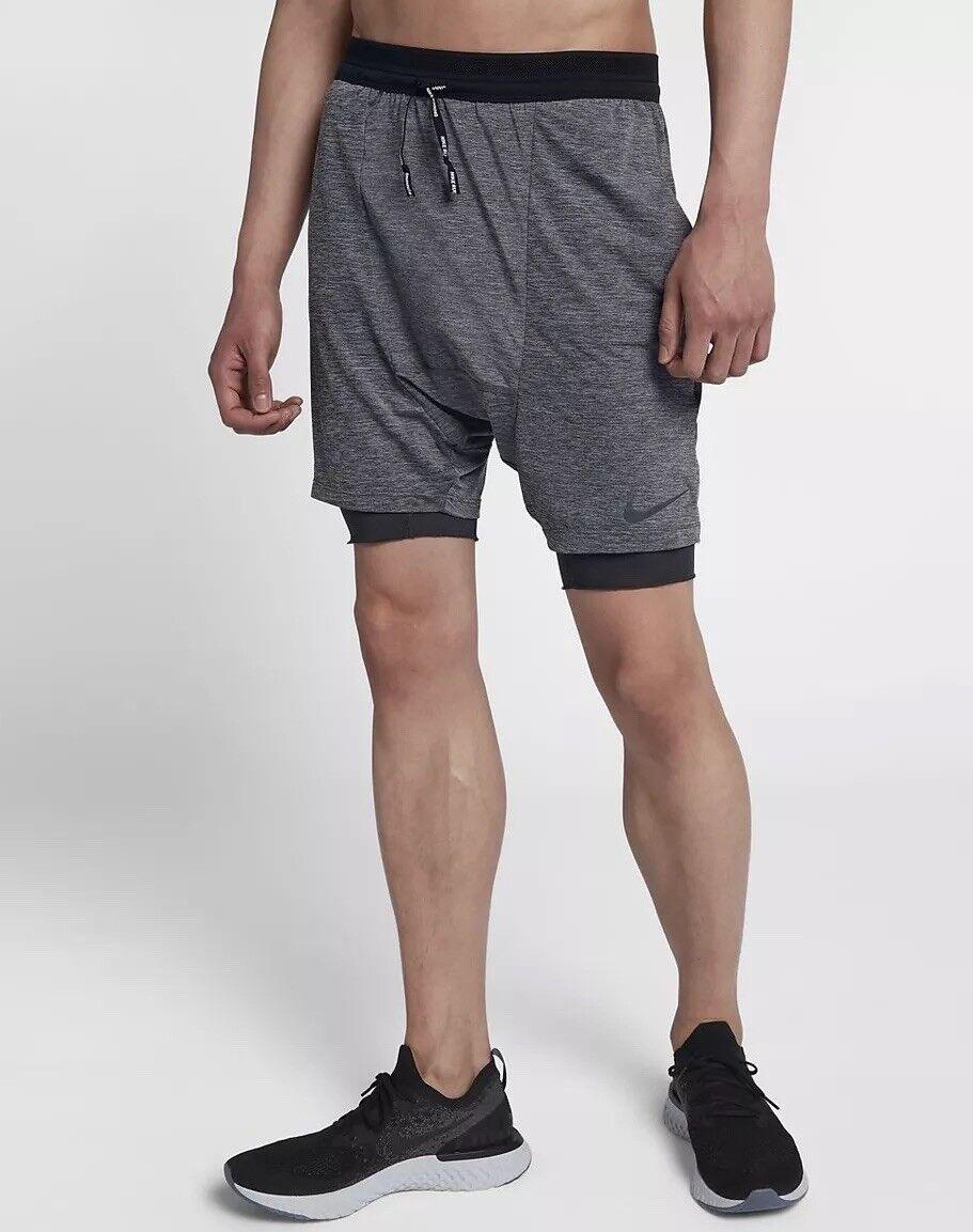 Nike RUN Divisione FLEX Stride 2in1 uomo 7  in esecuzione Pantaloncini 892893-010 taglia S NUOVA