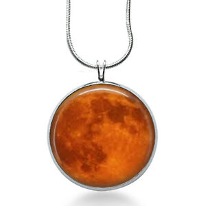 Harvest-MOON-Necklace-Space-Picture-Pendant-Full-moon-necklace-lunar