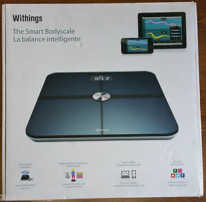 Withings Body Cardio Scale >> WITHINGS SMART BODY ANALYZER SCALE WBS01 - BLACK ...