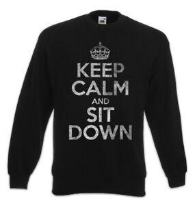 Sweatshirt Leuk pullover Blijf ga zitten en kalm UxAwnq0Pf