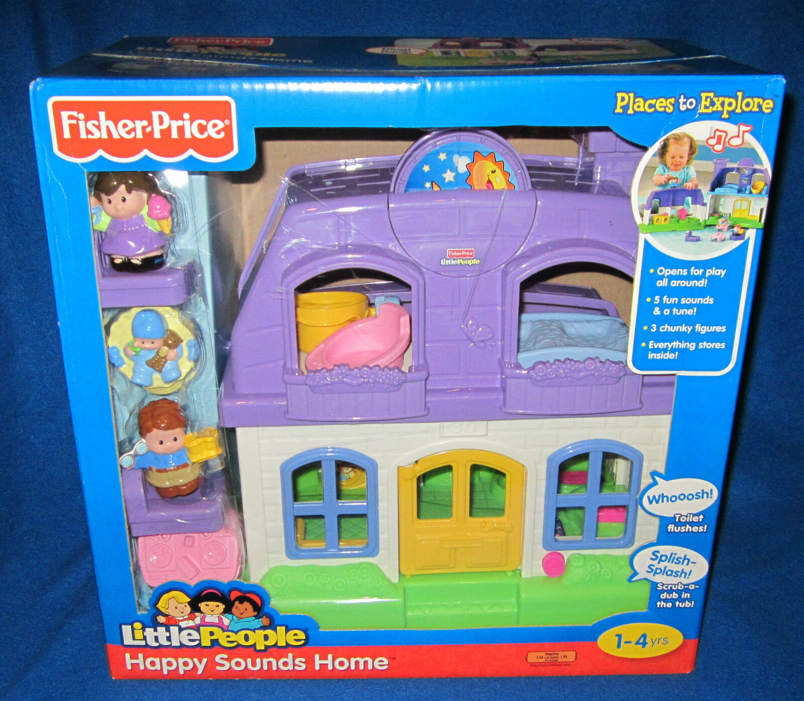 Fisher Little People Happy Sounds Doll House P3329 2008 | eBay