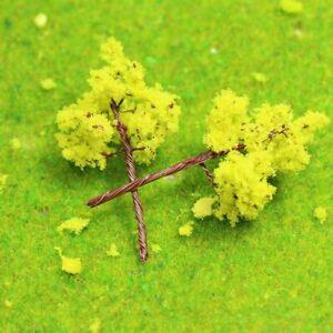 R3010 200pcs Model Train Layout 1:220 Yellow Model Trees N Z Gauge 3cm