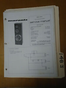 Marantz-Model-sp103-Service-Manual-Original-Repair-Book-Stereo-Speaker-4-pages