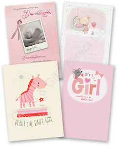 Congratulations new baby girl greeting card birth little baby girl image is loading congratulations new baby girl greeting card birth little m4hsunfo