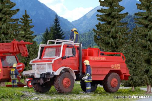 kibri 18270 H0 Feuerwehr UNIMOG Waldbrandlöschfahrzeug