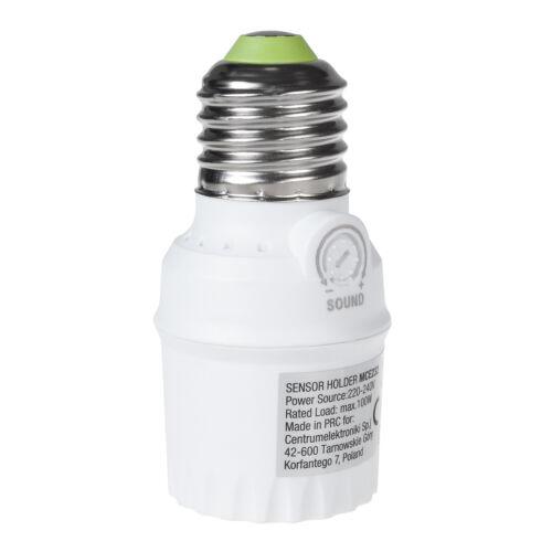 Lampenfassung mit Dämmerungssensor Bewegungssensor oder Geräuschsensor E27