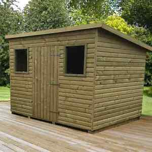 Heavy duty pent wooden garden huts storage wood pent shed for Storage huts for garden