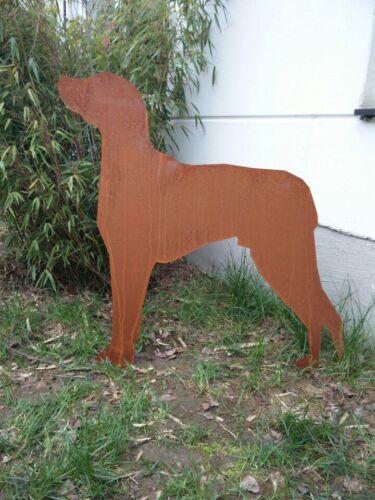 Edelrost Hund Garten Hund Rost FigurenGartenDeko Metall Gartenstecker 85*81cm